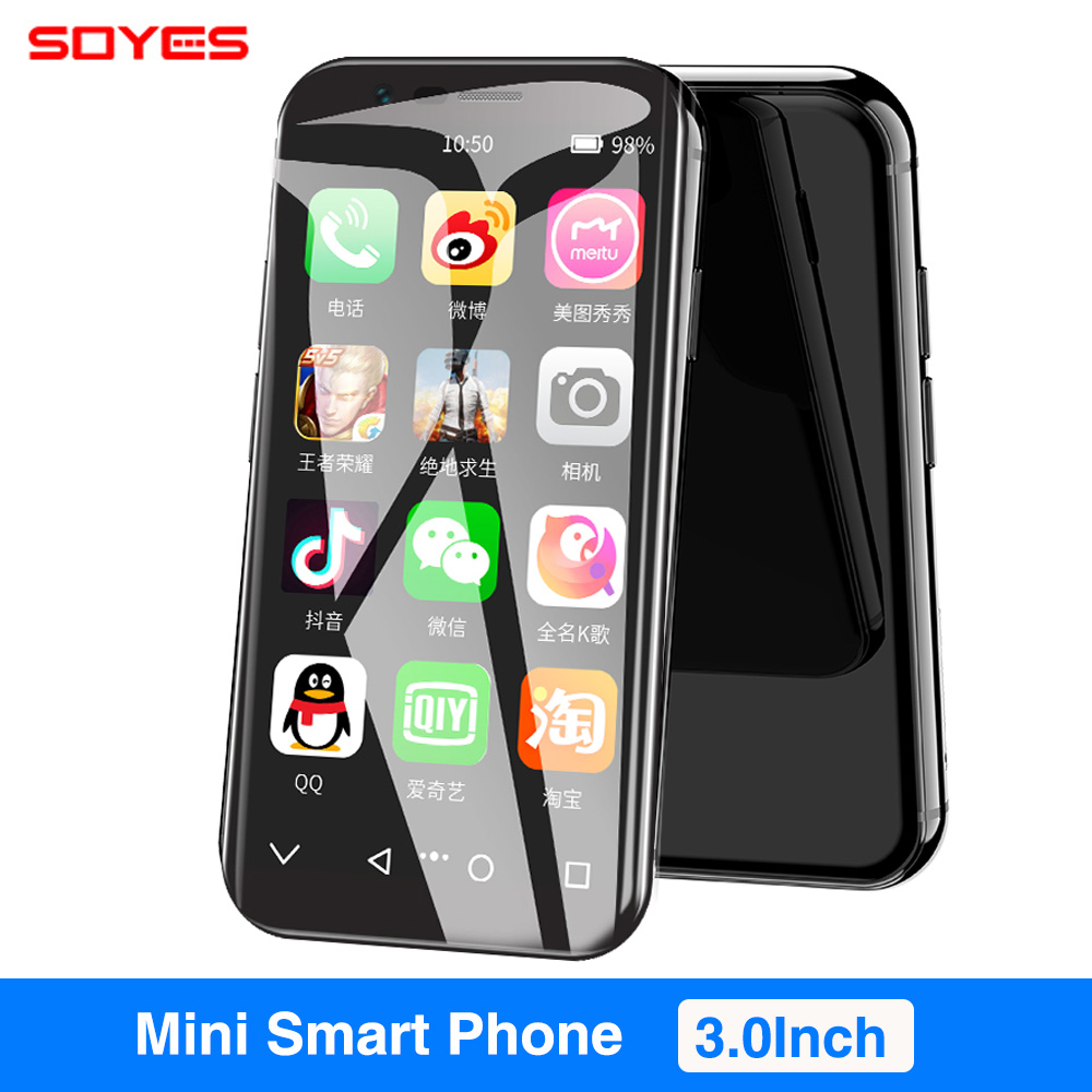 SOYES XS 3.0 Small Smartphone Android 6.0 4G WIFI GPS Google Play 3GB 32GB Super mini Pocket Auxiliary Mobile Cell PhoneSOYES XS 3.0 Small Smartphone Android 6.0 4G WIFI GPS Google Play 3GB 32GB Super mini Pocket Auxiliary Mobile Cell Phone