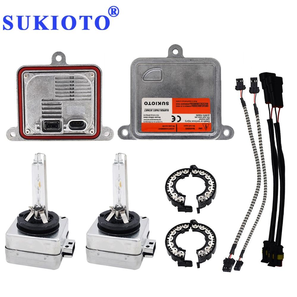 SUKIOTO Xenon D1S Xenon Projector Lens Bulb Kit 55W D3S 6000K 4300K 5000K Canbus Hid Kit Xenon Electronic D1S Ballast D1R D3R