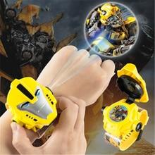 PUXU Moda Niños proyección 3D Relojes Niños reloj electrónico Niñas niños Relojes de pulsera para niños Relogio Masculino 2018
