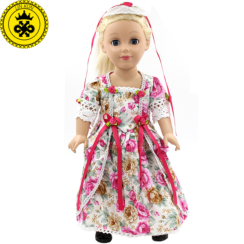 Doll Clothes - Japan Fashion Print Dress Outfit Fits American Girl Doll Our Generation and other 18 inch Dolls MG-055