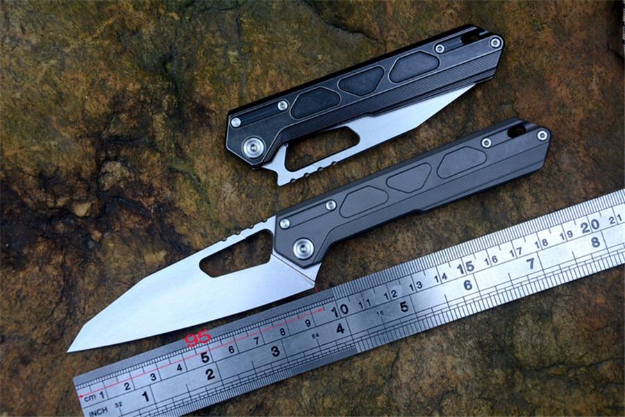 CNO Chef MT03 couteau pliant M390 délavé lame STEDEMON Marque Tactique de Poche de Survie Couteaux Titane poignée avec clip