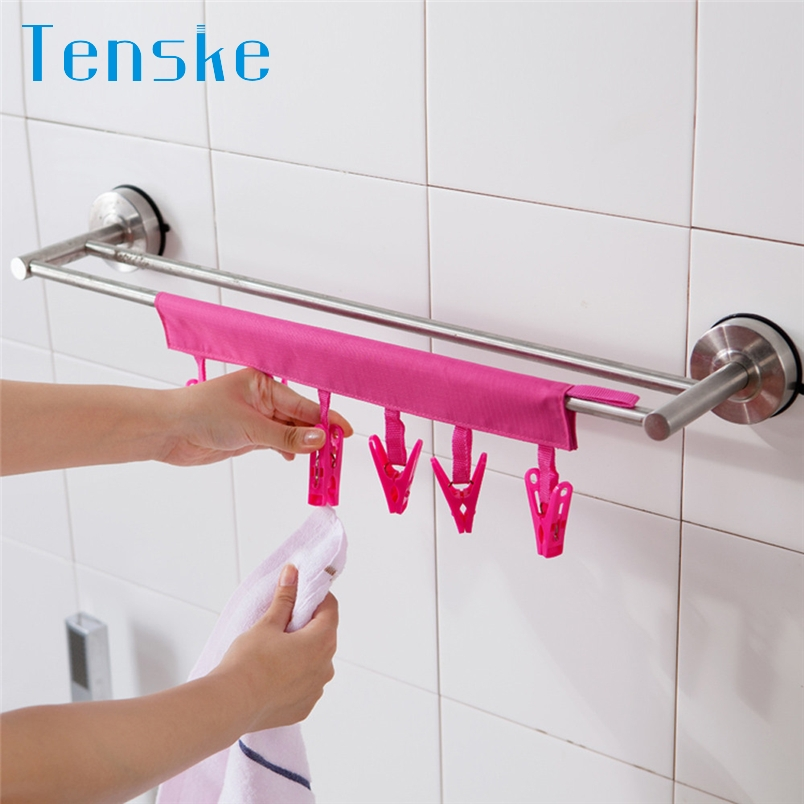 Tenske hanger clips 2017 Portable Socks Dry Cloth Pendant Rack Cloth Cutter perfect for Business Travel*30 GIFT Drop