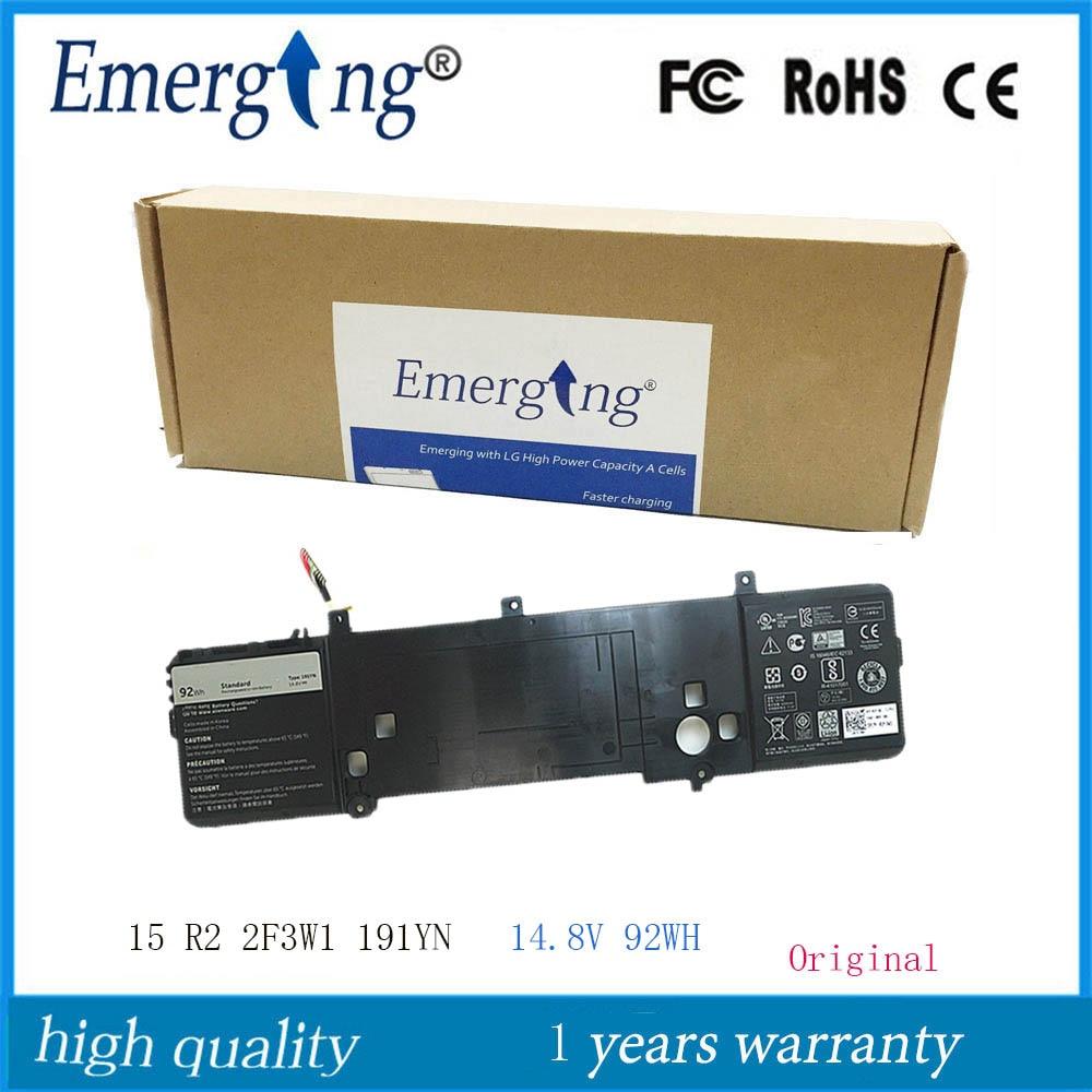 14.8V 92WH New Original  Laptop Battery 191YN For DELL Alienware 15 R1 15 R2 ALW15ED-1828 2F3W1