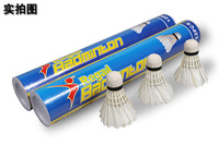 120Pcs=10tubes Brand Badminton Shuttlecock Goose Feather Birdies Flying Stably Durable Battledore AX2 6