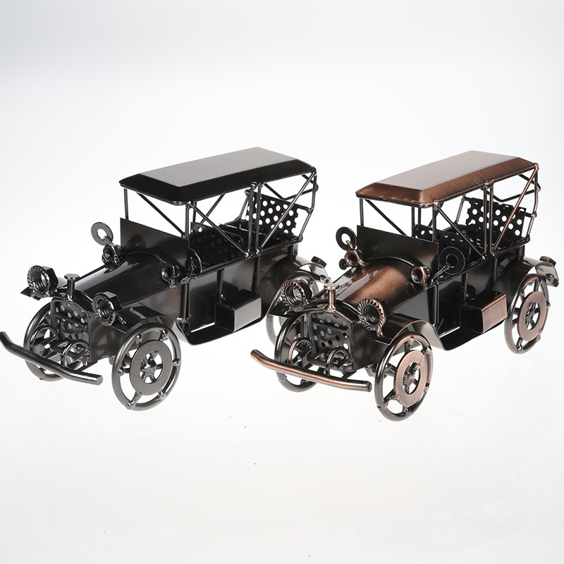 Vintage Car Alloy Model 1924 Sport Car Vehicle Diecast Metal Car Toy for Kids Gift Collection the Old Car Home Decor