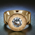 Personal DIY Jewelry Birthday Stone Interchangeable Rings Gold Plated 316L Stainless Steel Rings For Gift