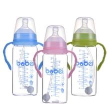 300 Ml Breiten Mund Flasche Baby Glas Gerade Körper Fütterung Mamadeiras 6 M + Biberon Para Bebe Top Qualität Bebek biberon