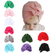 Фотография New Baby Girls Hats Children beanie Berets Infant Caps Rabbit Solid Cotton Hat For Girl Bonot Balaclava Bucket Sun hat 1-6Years