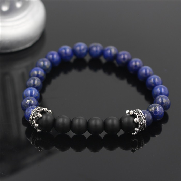 silver-imperial-crown-with-glossy-purple-stone-black-bracelet-1