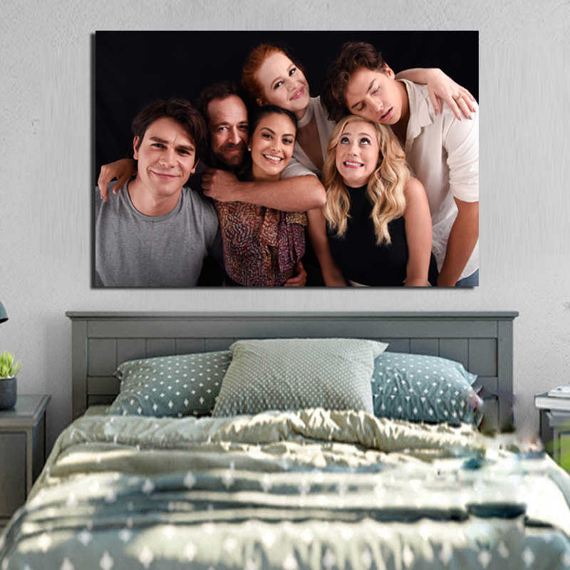 Riverdale Luke Perry And Camila Mendes Art Canvas Posters Painting Wall Pictures Print Home Bedroom Decoration Framework Artwork