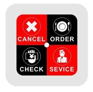 Bezdrátová číšnická služba, tlačítko pro vyvolání systému - Kancelářské elektroniky