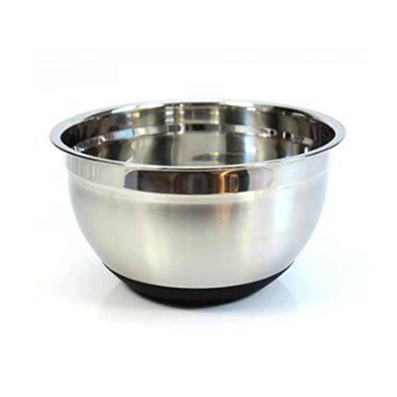 Stainless Steel Mixing Bowl 20cm Thicken Silicone Bottom Prevent Splash Egg Beating Pan Kneading Basin Fermentation Pot Tools