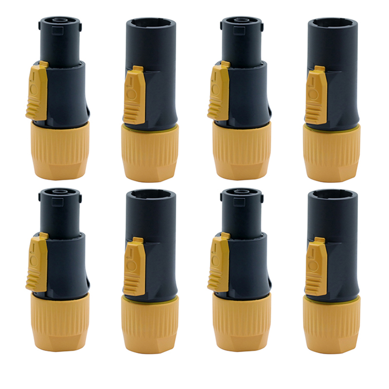 10Pcs High quality 20A Waterproof Powercon LED Large Screen Power Plug PA66 Flame retardant Industrial Power