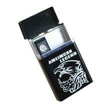Портсигар электронного непламено сигарет установлен быть нагревательный может зажигалка провод аккумуляторная