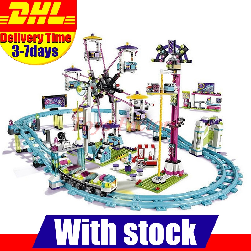 In Stock DHL LEPIN 01008 1124Pcs Amusement Park Coaster Building Kits Girl Series Blocks Bricks Toys Compatible Gift 4113 2016 new lepin 01008 1124pcs amusement park coaster building kits girl friend blocks bricks toys compatible gift 4113
