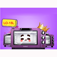 LO 15L 15L Mini oven oven mini oven Multifunction electric oven 220 V/ 50 Hz 1200 W 100 230 degree purple Stainless steel shell