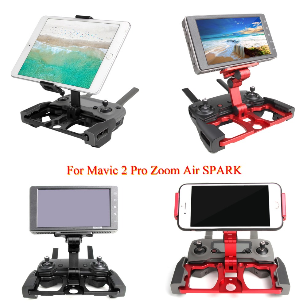 Upgraded Ver Aluminum Phone Tablet Suitable for Crystalsky Monitor Stand Holder Bracket mount for DJI Mavic 2 Pro Zoom Spark Air