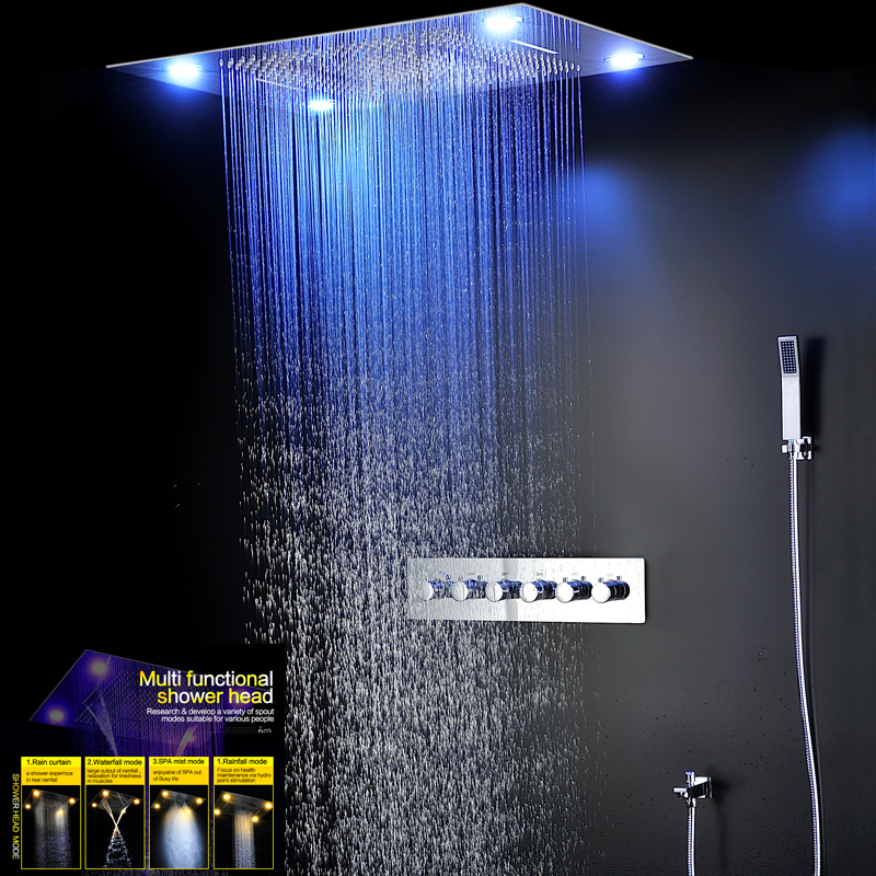 Bathroom Fixture Shower Faucets Ceiling Mounted Waterfall Mist ...