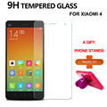 Tempered Glass Screen Protector For Xiaomi Mi 4 Mi4 9H 2.5D Arc Edge Anti Scratch Anti Impact Protective Film For Xiaomi Mi4