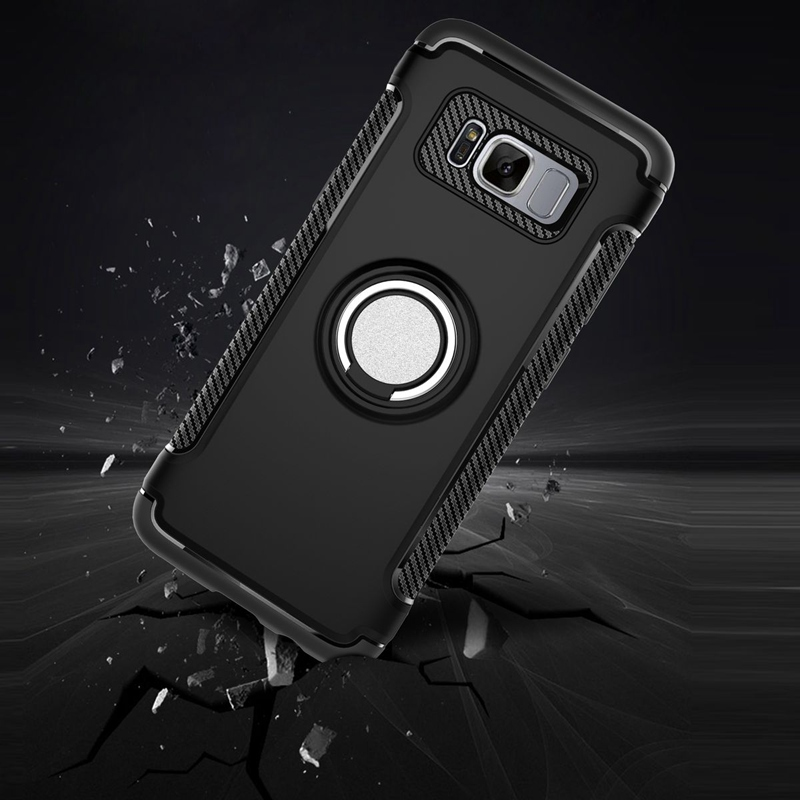 Luxury Mobile Phone Case For Samsung Galaxy S8 plus Cases Ring Holder Shockproof Cover For Samsung <font><b>Note</b></font> 8 S <font><b>7</b></font> S7 <font><b>edge</b></font> Note8 Capa
