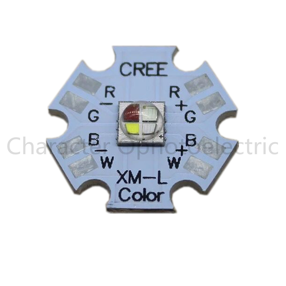 5 pcs Cree XLamp XM-L XML RGBW RGB White or RGB Warm White Color High Power LED Emitter 4-Chip 20mm Star PCB Board