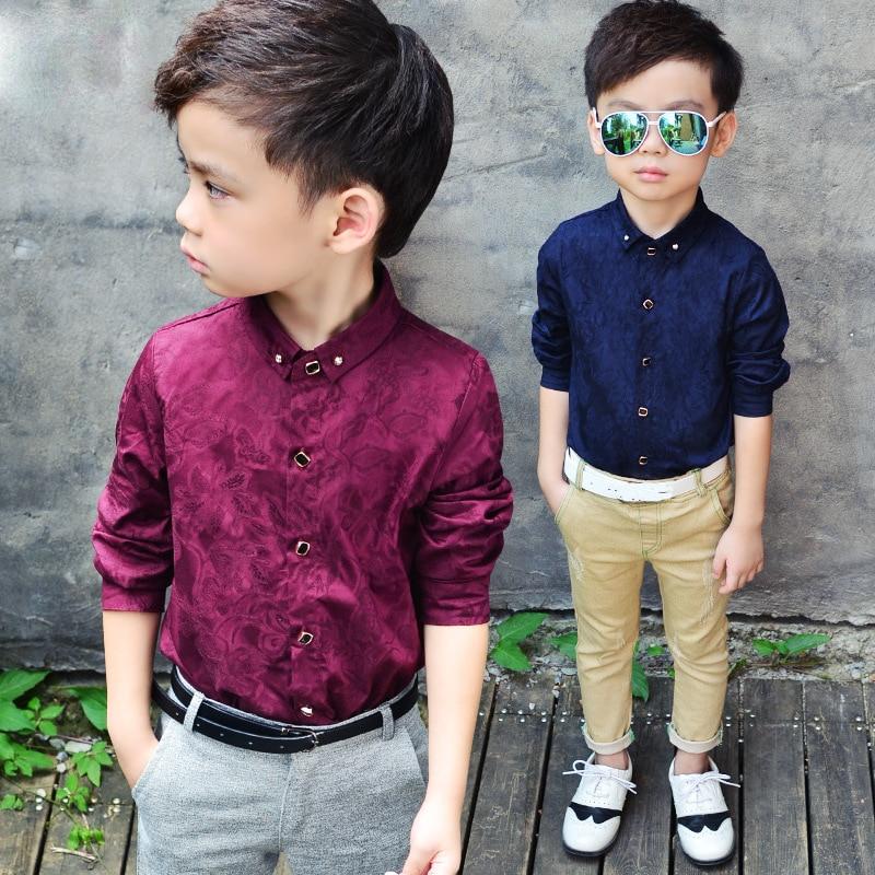 Boys Blouses Dress Shirts boys long sleeve Children Shirt Baby Kids Wedding Clothes Boys Formal Dress Shirts Boys Tops 2
