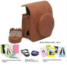 CAIUL Fujifilm Instax Mini 90 Instant Camera Accessory Bundles Set (Included: Brown Mini 90 Vintage Case Bag/ Mini