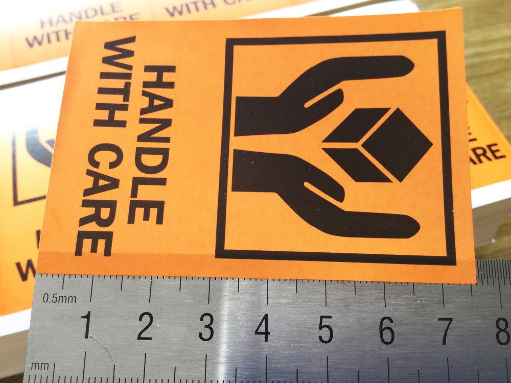 2000 шт/партия 51x76 мм ручка с заботой самоклеющиеся наклейки для перевозки грузов, пункт № SL01