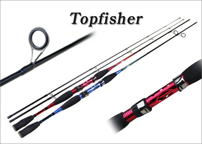 Topfisher spinning fishing rod 7 39 carbon fishing pole red for Fisher price fishing pole