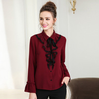 XXXL 4XL 5XL Plus Size Clothing 2018 Autumn European Style Ruffles Ladies Shirts Long Sleeve Women Tops and Blouses Big Size