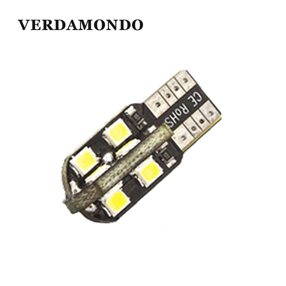 T10 W5W 194 168 LED 16 2835 SMD Car Lights Dome License Plate Door Side Marker Lamp Clearance Bulbs 12V Warm White