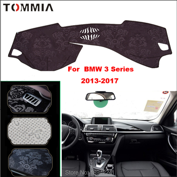 Tommia Car Dashboard Cover Mat Light Avoid Pad Photophobism Anti-slip protection Mat For BMW 3 Series 2013-2017