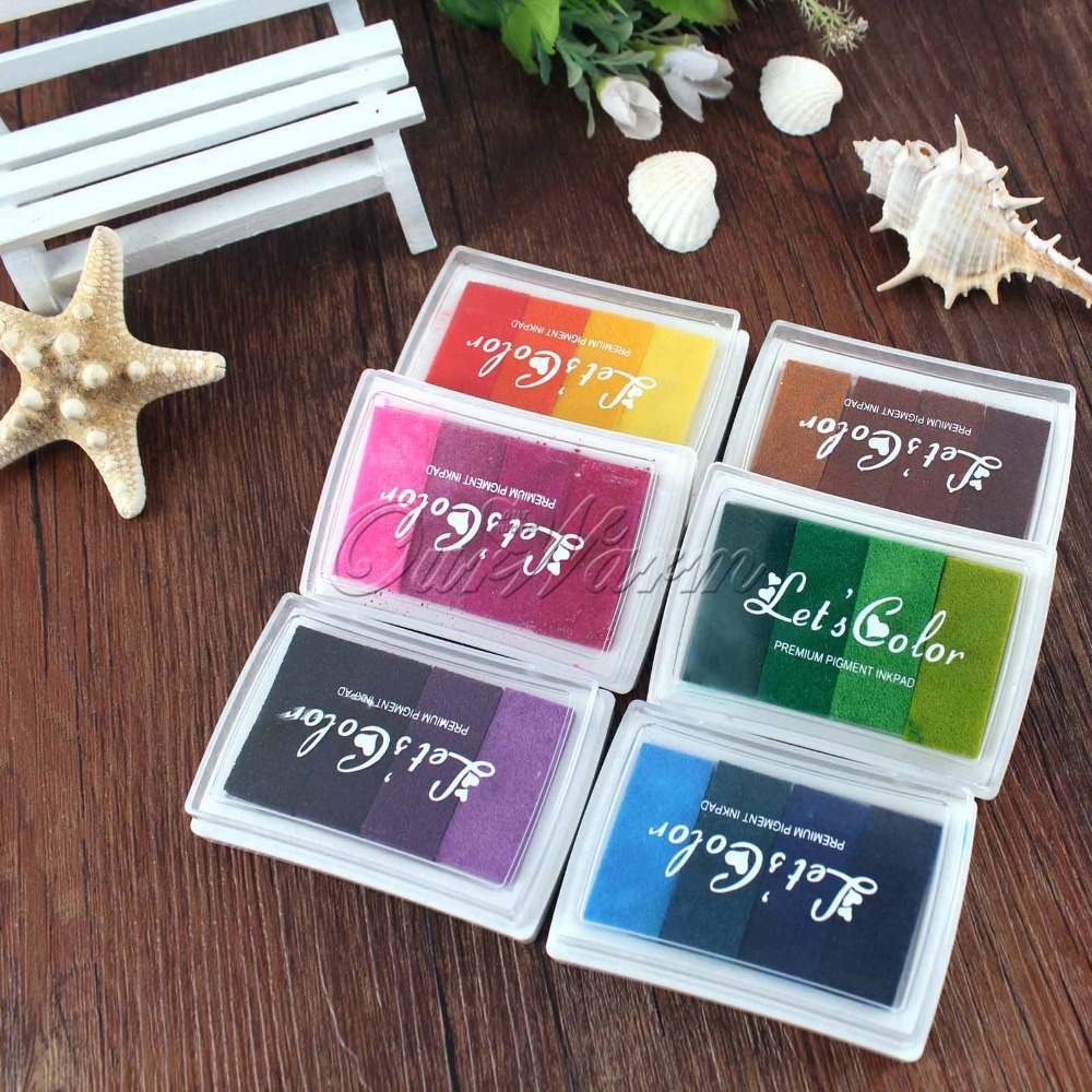 Rubber stamp craft supplies - Multicolour Creative Diy Oil Rubber Stamps Ink Pad For Wedding Decoration Party Favors And Gifts Craft Supplies Fingerprint Tree