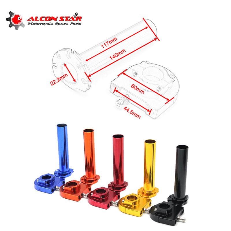 Alconstar 7/8'' 22mm Throttle Grip With Cable Motorcycle Handle Bar Grip Throttle Assist CNC Alloy Twist Gas Throttle Handle