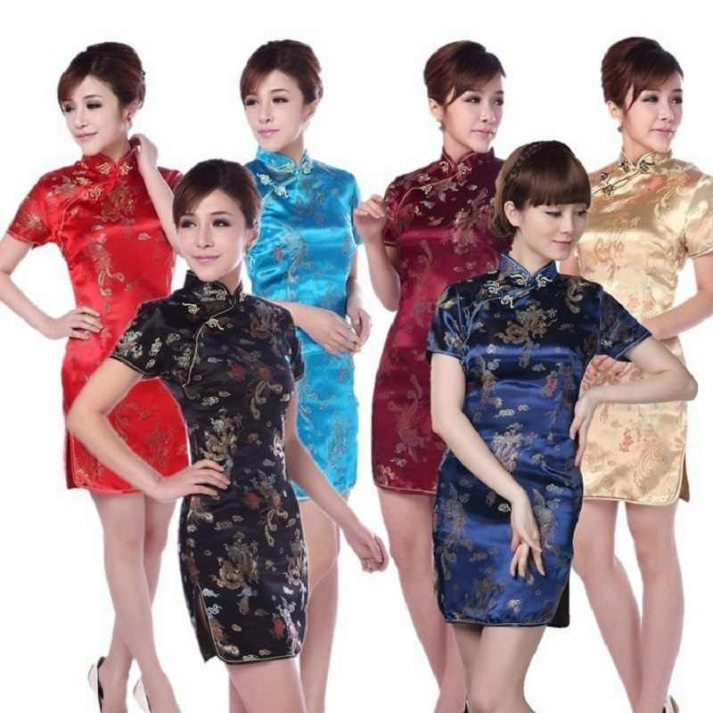 531a292a3 Retro mordern Sexy Chinese tang suit Qipao costumes,dragon Phoenix short  cheongsam dresses Chinese traditional dress on Aliexpress.com   alibaba  group