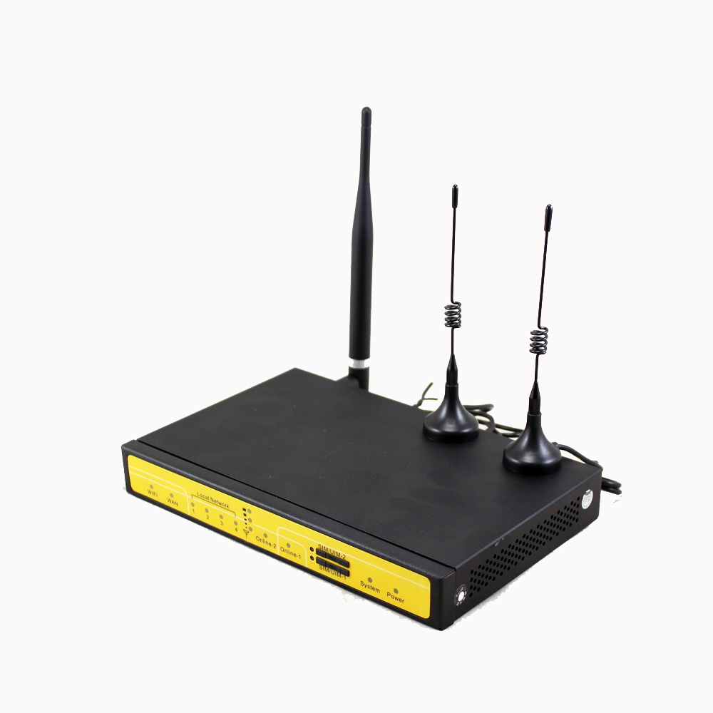 Free Shipping support VPN F3846 LTE dual sim 4G router for ATM Kiosk