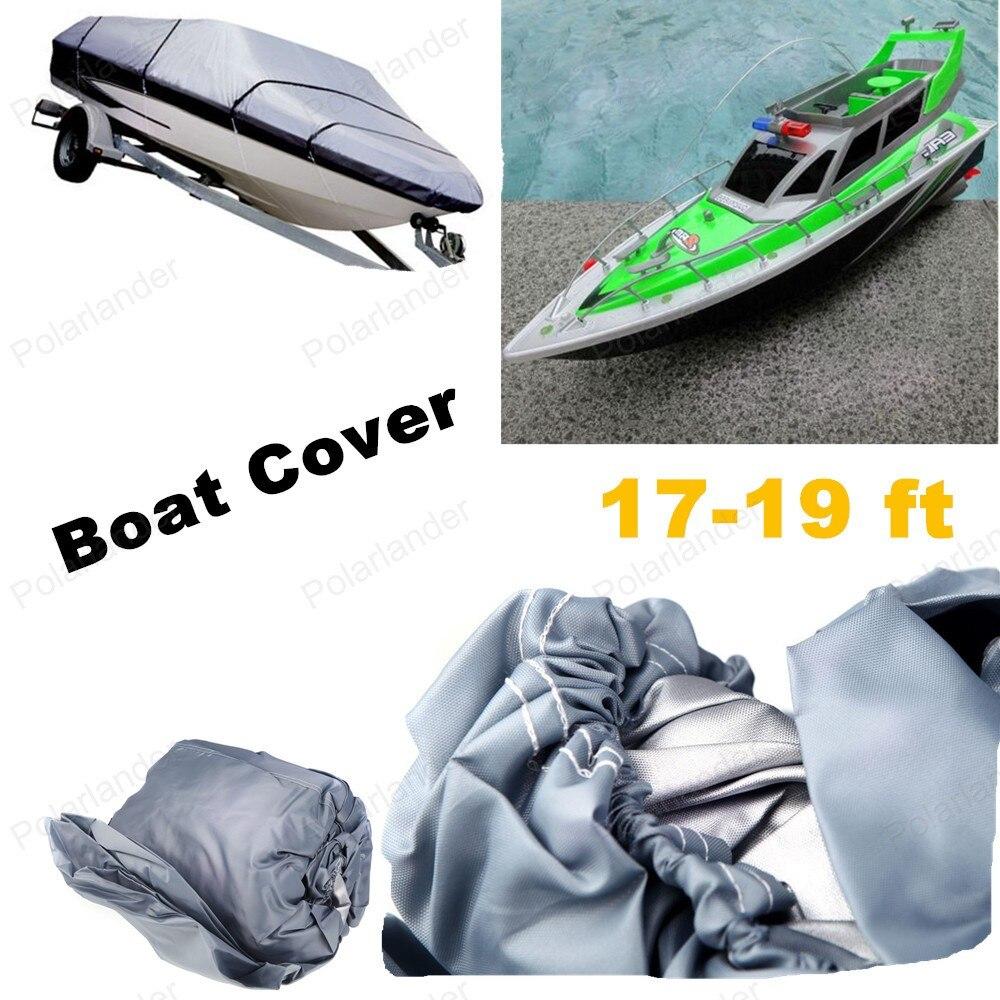 Gros 210D hors-bord bateau de pêche couverture accessoires bâches de voiture 17-19ft Sunnproof poisson Ski v-coque étanche UV protégé