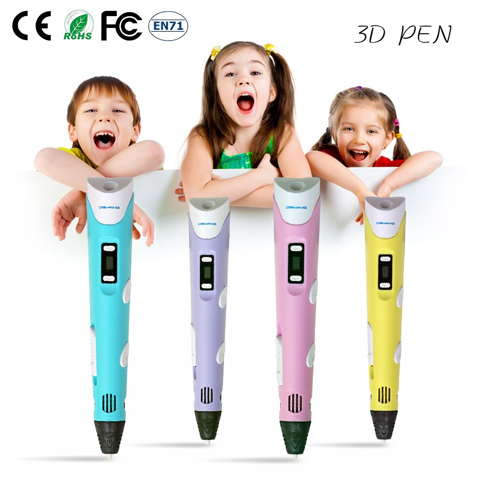 DEWANG 3D Pens Printer High Quality Handcraft Pen for Sale With 9M ABS Filament for Kid 3D Printing Pen