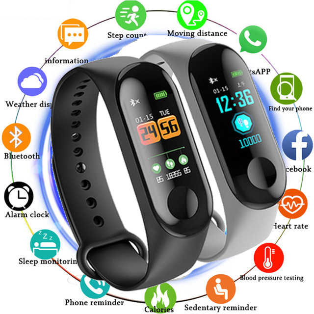 New Women Sport Waterproof Watch Blood Pressure Heart Rate Monitor Smart Watch Men woman Fitness tracker pedometer Watches