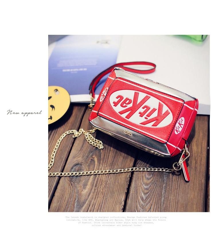 Image 2 - New Handbag Small Box Shape Shoulder Bag Funny Personality Crossbody Bag Diagonal Chain Bag Fashion Messenger Bagchain bagfashion shoulder bagsshoulder bags -
