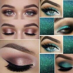 PHOERA Make-Up Glitter Lidschatten Pallete Pigment Schimmer Pulver Make-Up Wasser-Beständig Maquillaje Zufällige Farbe Pinsel TSLM1