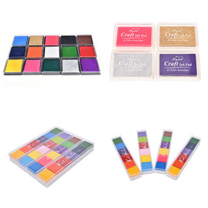 Colorful Fashion Oil Based Craft Ink Pad Rubber Stamps for Fabric Wood Paper Wedding DIY Craft Gift Finger Print