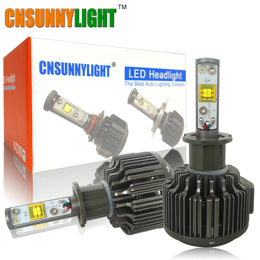 CNSUNNYLIGHT H3 LED light 30W 3600LM 5500K Car Fog Light DRL Low Consumption High lumen Kit