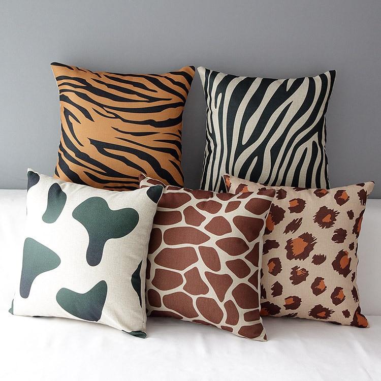 zebra cushion ebay case animal pillow bhp leopard usa print decor waist throw cover sofa