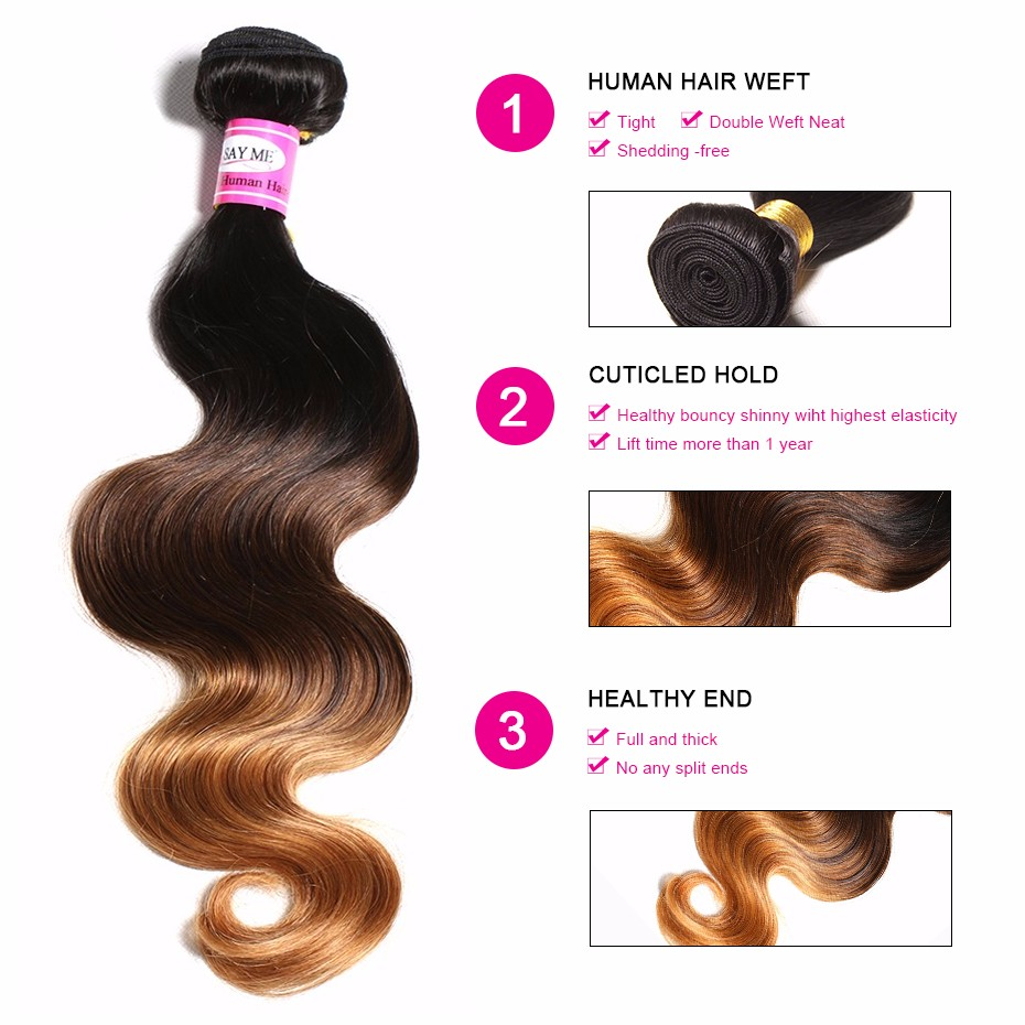 13x4 Lace Frontal Closure With Bundles Ombre Brazilian Body Wave 3 Bundles With Frontal Closure Blonde Nonremy Human Hair Weave