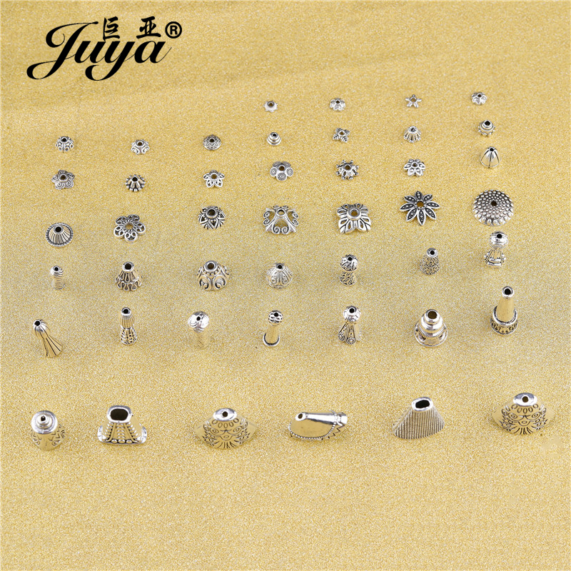 20/50pcs/lot Multiple Styles Zinc Alloy Beads Caps End Tassel Cone Cap For Pendant Earring Bracelet DIY Jewelry Making Findings