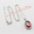 Conjuntos de Jóias de Cor Prata charme Halloween Criado Garnet Red AAA Zircão Para As Mulheres Colar de Pingente Brincos Anéis Pulseira
