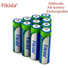 Fikida 1.2 v 3000 mah NI MH AA Recarregável Pré-Carregada Baterias Ni-MH Recarregável aa Bateria Para Câmera Brinquedos microfone