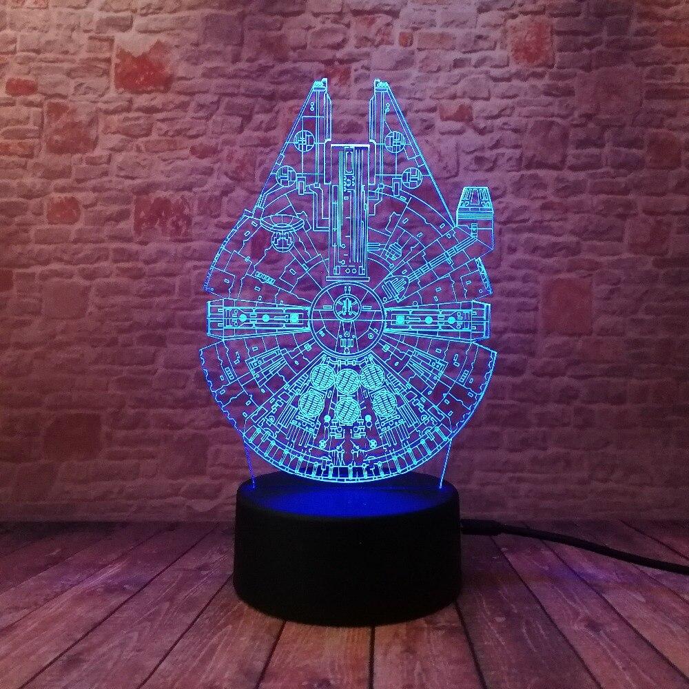 Star Wars Legends Novedad Nave espacial 3D Night Light Smart 7 Color - Luces nocturnas - foto 4