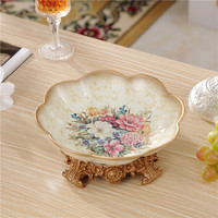 European snacks dried fruit plate resin living room luxury decorative plates table candy storage home decoration ornaments